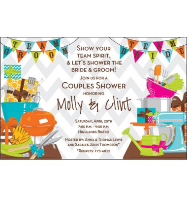 Couples Shower Invitations, Team Shower, Inviting Company