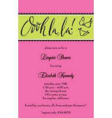 Lingerie Invitations, Ooh La La, Inviting Company