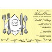 Rehearsal Dinner Invitations, Silverware, Inviting Company