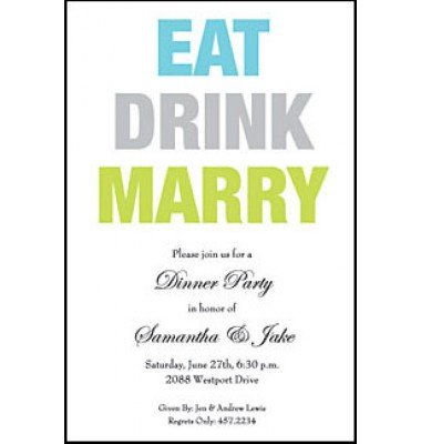 Eat Drink Marry, Inviting Company