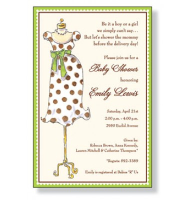 Baby Shower Invitations, Mommy Mannequin, Inviting Company
