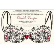 Lingerie Invitations, Lacy Bra, Inviting Co
