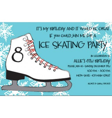 Skating Invitations, Figure Skate, Inviting Company