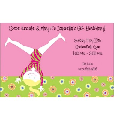 Gymnastic Invitations, Flip, Inviting Company