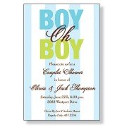 Baby Shower Invitations, Boy Oh Boy, Inviting Company