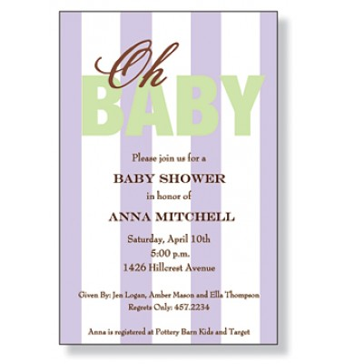 Baby Shower Invitations, Oh Baby, Inviting Company