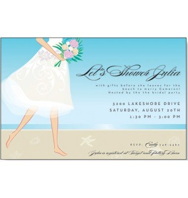 Bridal Shower Invitations, Tropical Bride, Mindy Weiss