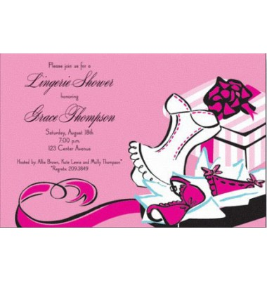 Lingerie Shower Invitations, Sassy Boxes, Inviting Company