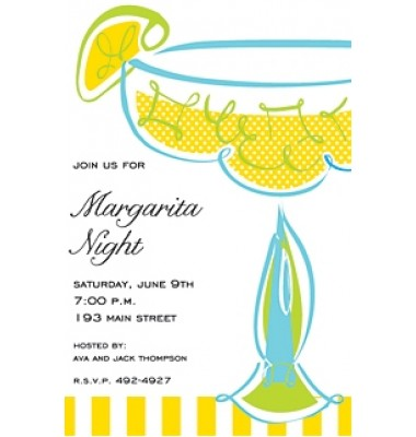 Fiesta Invitations, Swirl Margarita, Inviting Company