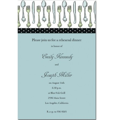 Dinner Invitations, Flatware Row, Mindy Weiss