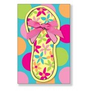 Spa Party Invitations, Flip Flop