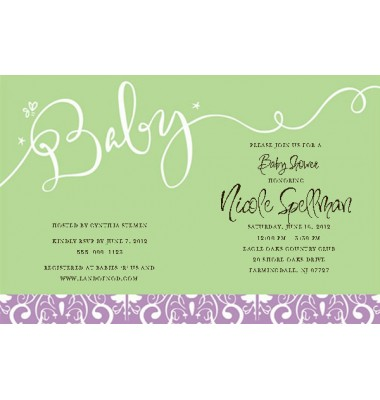 Baby Shower Invitations, Baby Green, Inviting Company
