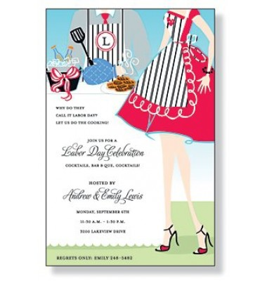 BBQ Invitations, BBQ Couple, Mindy Weiss