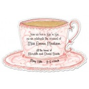 Tea Party Invitations, Teacup, Julia D Azar