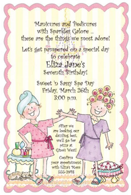 Spa Party Invitations Spa Day Julia Azar Spa Party Invitations
