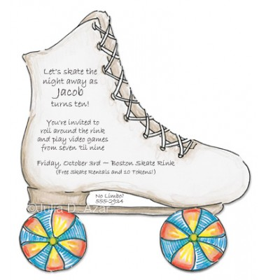 Skating Invitations, Roller Skate, Julia D Azar