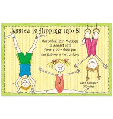 Gymnastics Invitations, Tumbling, Julia Azar