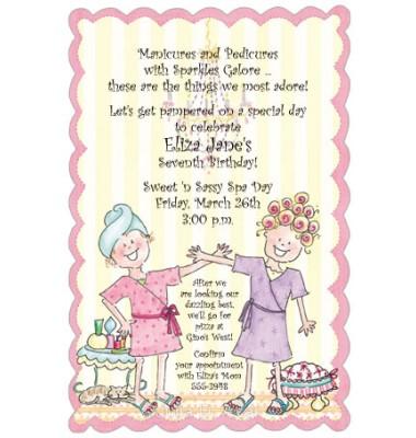 Spa Party Invitations, Spa Day, Julia Azar