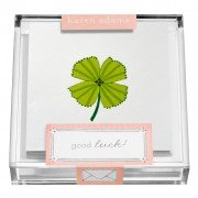 Gift Enclosure, Clover in Acrylic Box, Karen Adams