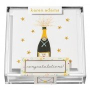 Gift Enclosure, Congratulations in Acrylic Box, Karen Adams