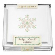 Holiday Gift Enclosure, Flake in Acrylic Box, Karen Adams
