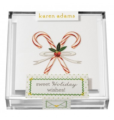 Holiday Gift Enclosure, Sweet Holiday Wishes in Acrylic Box, Karen Adams