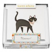 Gift Enclosure, Meow in Acrylic Box, Karen Adams