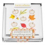 Gift Enclosure, Pumpkin Spice in Acrylic Box, Karen Adams