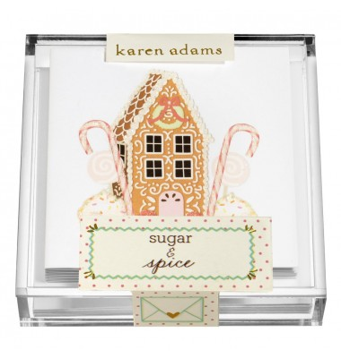 Holiday Gift Enclosure, Spice House in Acrylic Box, Karen Adams