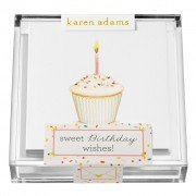 Gift Enclosure, Sweet Birthday Wishes in Acrylic Box, Karen Adams