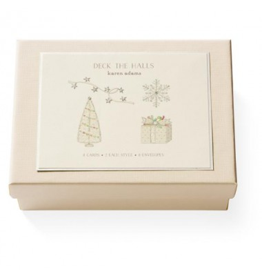 Boxed Note Cards, Deck the Halls, Karen Adams