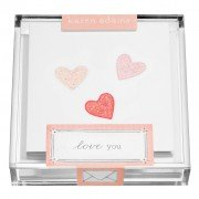 Gift Enclosures, Hearts in Acrylic Box, Karen Adams