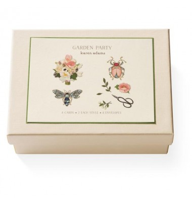 Boxed Note Cards, Garden Party; Karen Adams