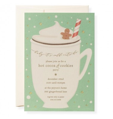 Christmas Invitations, How Cocoa, Karen Adams