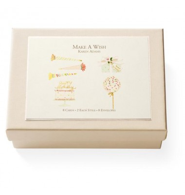Boxed Note Cards, Make a Wish, Karen Adams