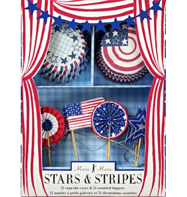Stars and Stripes Cupcake Kit, Meri Meri