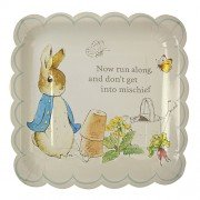 Peter Rabbit Large Scollop Edge Plates. Meri Meri