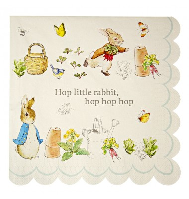 Peter Rabbit Large Scollop Edge Napkins, Meri Meri