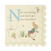 Peter Rabbit Small Scollop Edge Napkins, Meri Meri