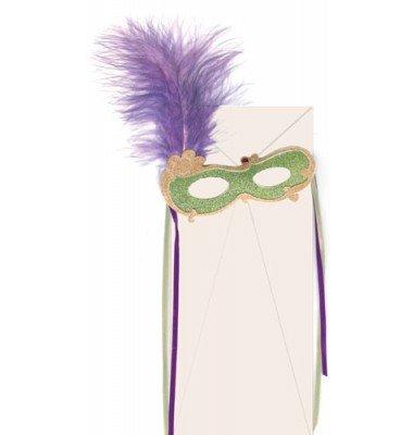 Masquerade Invitations, Mask With Feather, Meri Meri
