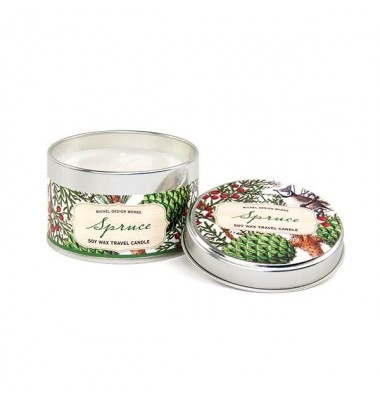 Travel Candle Tin, Spruce, Michel Design Works