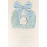 Baby Shower Invitations, Bib Blue, Odd Balls