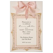 Baby Shower Invitatons, Frame Pink Invitation, Odd Balls