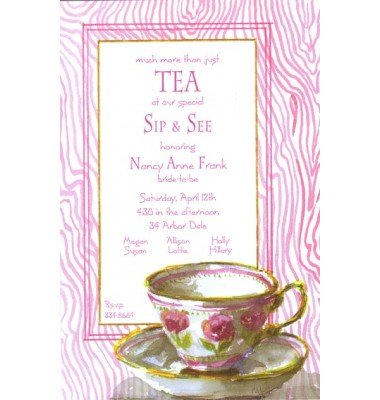 Tea Party Invitations, Tea Cup, Odd Balls