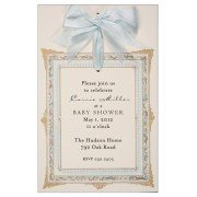 Baby Shower Invitions, Frame Blue Invitation, Odd Balls