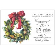 Holiday Invitations, Magnolia Wreath, Odd Balls