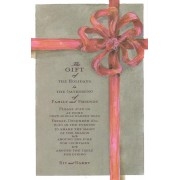 Christmas Invitations, Tied Taupe, Odd Balls Invitations