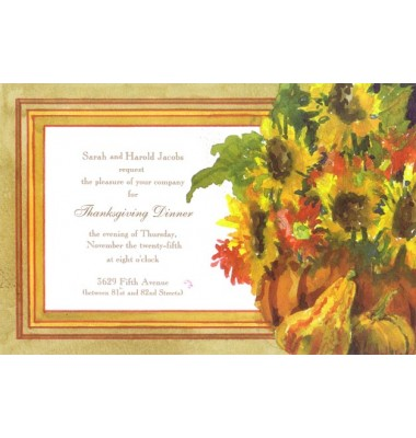 Thanksgiving And Fall Invitations, Gourds And Blooms, Odd Balls Invitations