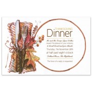 Dinner Party Invitations, Harvest Supper, Odd Balls
