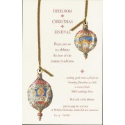 Christmas Invitations, Venetian Glass Ornaments, Odd Balls Invitations